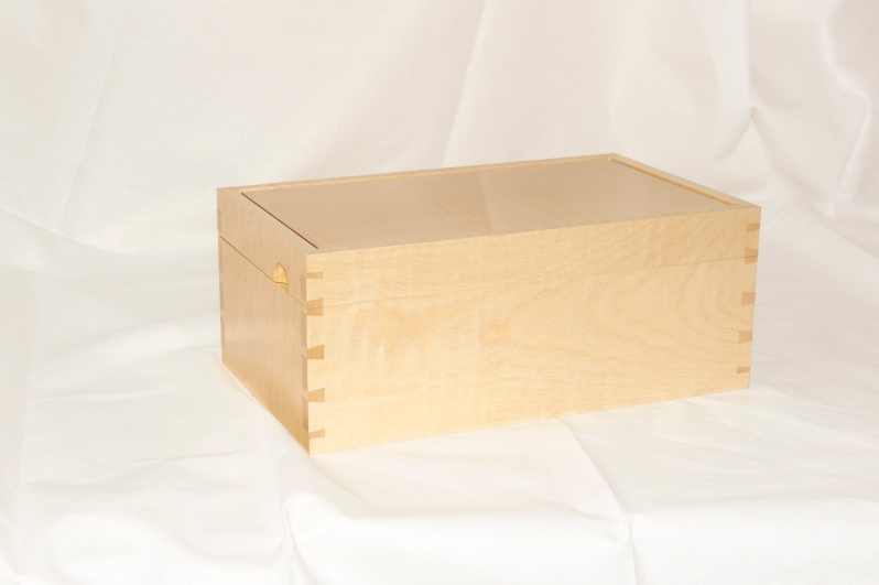 Ripple sycamore with English pear jewellery box
