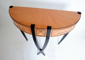 Black Swan bespoke contemporary side table console design by Paul Chilton