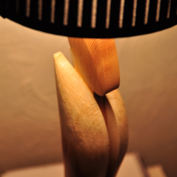 On Reflection table lamp designed and made by Paul Chilton
