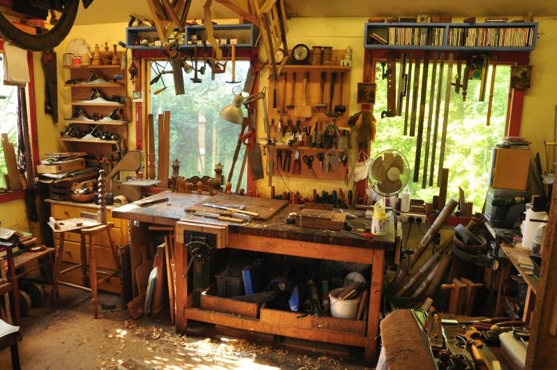 David Battle antique restoration workshop
