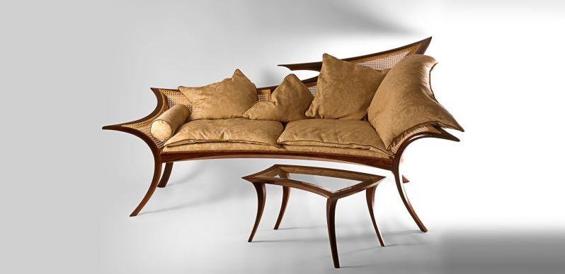 Honduras Rosewood Chaise Lounge / Day bed