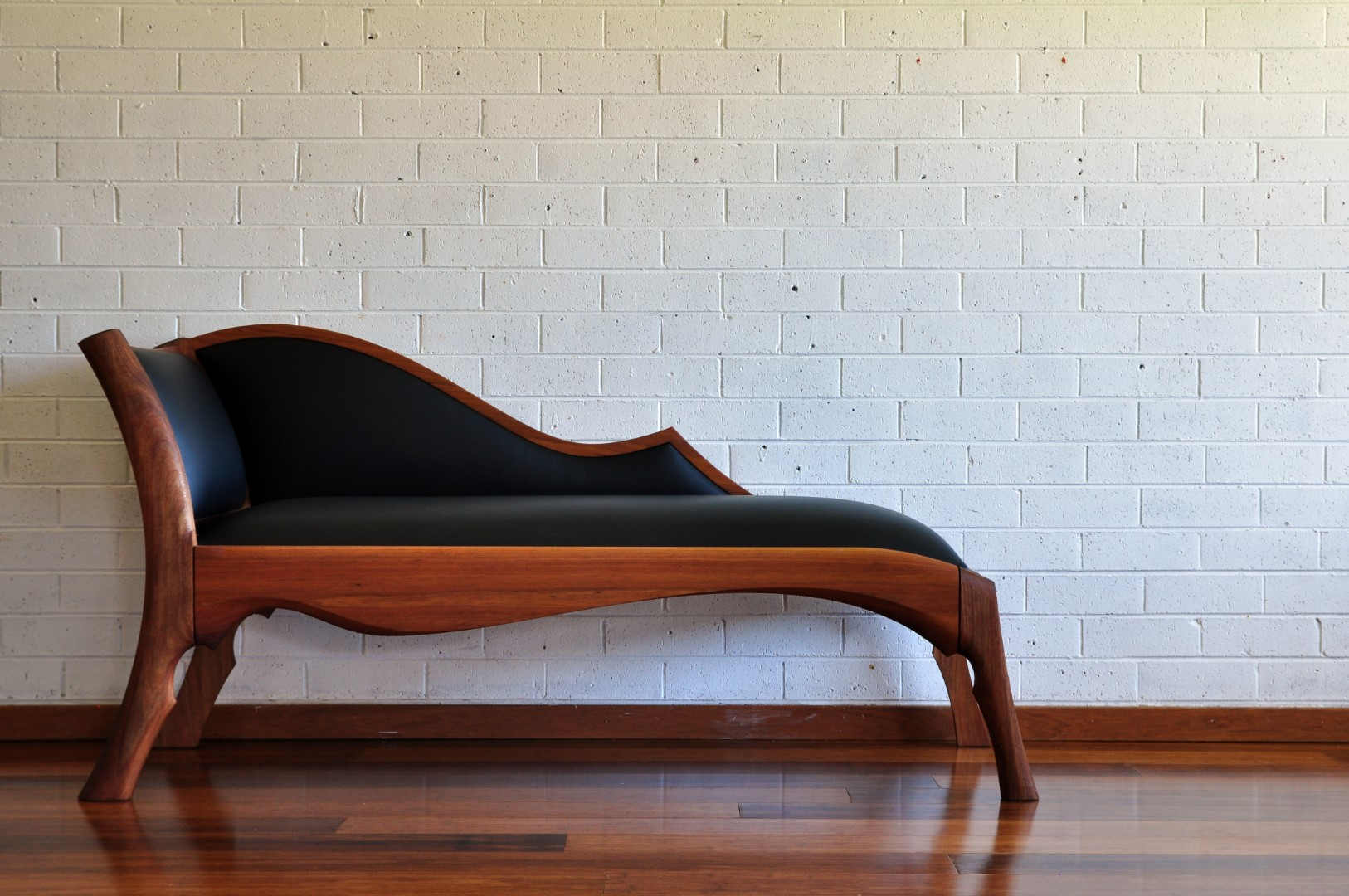 bespoke custom furniture chaise longue chair leather paul chilton