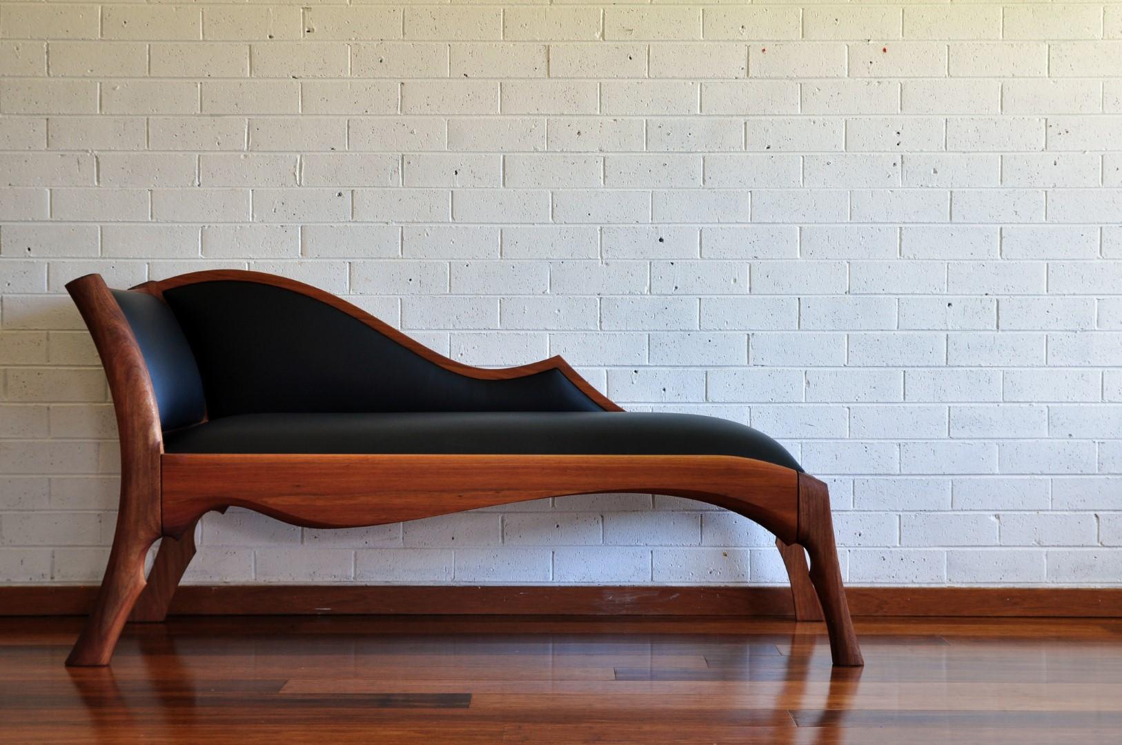 bespoke custom furniture chaise longue chair leather paul chilton